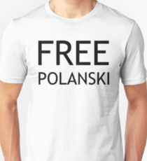 FREE POLANSKI (BLACK) Unisex T-Shirt