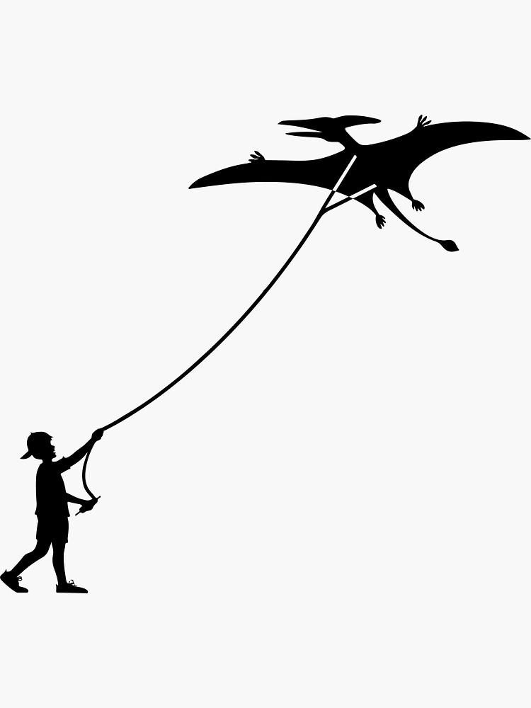 Fly a Kite Dinosaur Silhouette Pterodactyl by BOLD-Australia