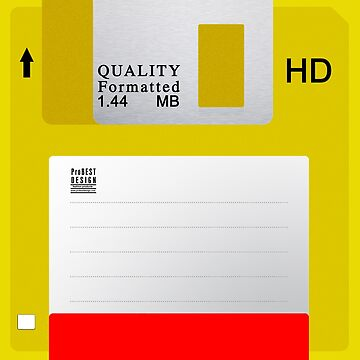 Yellow Floppy Disk by ProBEST