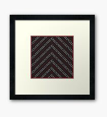Twin Peaks Fire Walk Chevron in Black, Red &White Framed Print