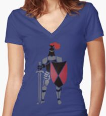 Knight T Women's Fitted V-Neck T-Shirt