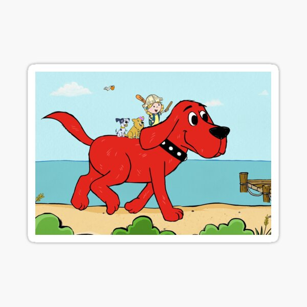 Clifford the big red dog and friends Sticker