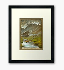 Midgewater Marshes to the Weather Hills Framed Print
