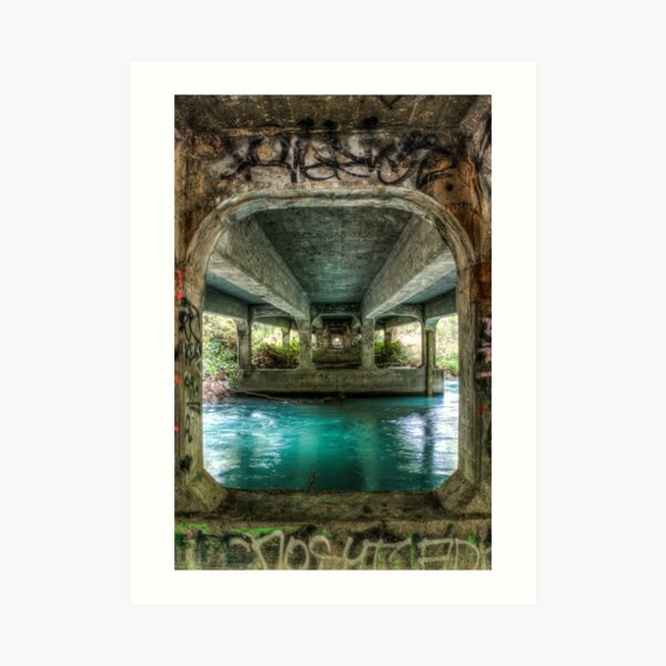Rakaia River Bridge Art Print