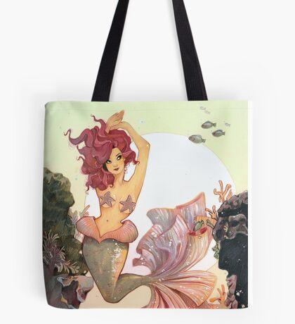 Cherry Mermaid Tote Bag