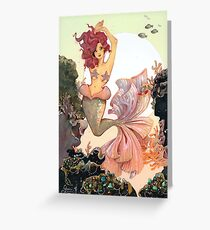 Cherry Mermaid Greeting Card
