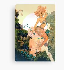 Rose Mermaid Canvas Print