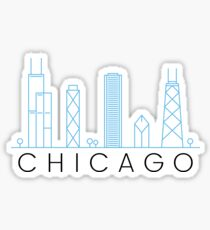 Chicago skyline - minimalist and modern Sticker