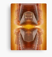 Glowing Brown Glass Abstract Canvas Print