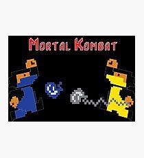 Retro Mortal Kombat Photographic Print