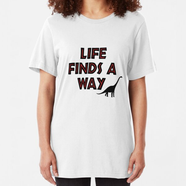 Jurassic Park - Life Finds a Way Slim Fit T-Shirt