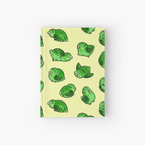 Linnie Doots -  Green on Yellow Hardcover Journal