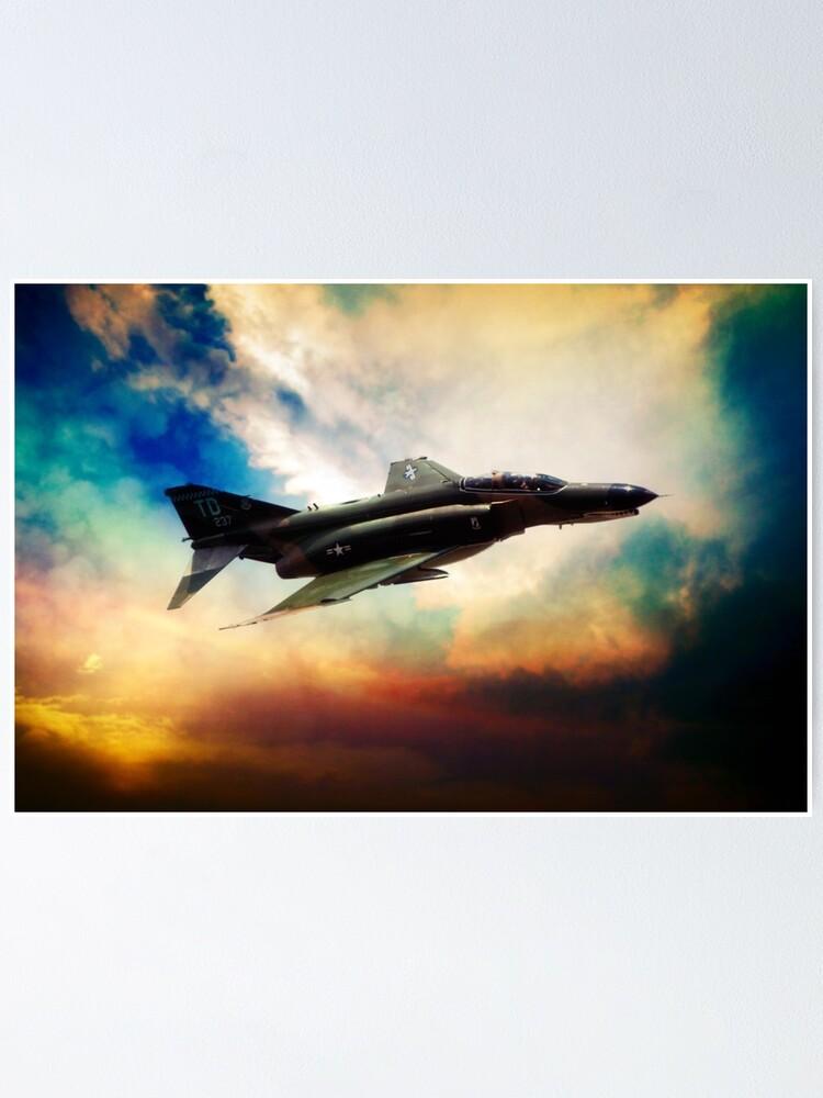 "F4 fighter jet bomber phantom airplane Poster 24/""x 16/"" HD"