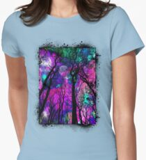 Magic forest Womens Fitted T-Shirt