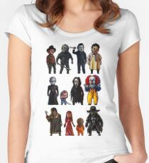 Icons of Horror Women's Fitted Scoop T-Shirt