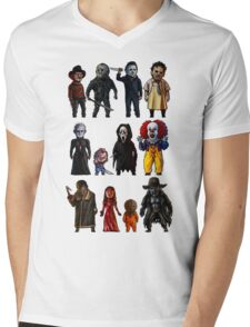 Icons of Horror Mens V-Neck T-Shirt