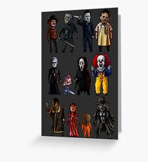 Icons of Horror Greeting Card