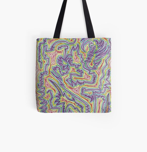 """Infrared Camo""  All Over Print Tote Bag"