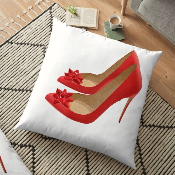 Red Heels with bows Floor Pillow
