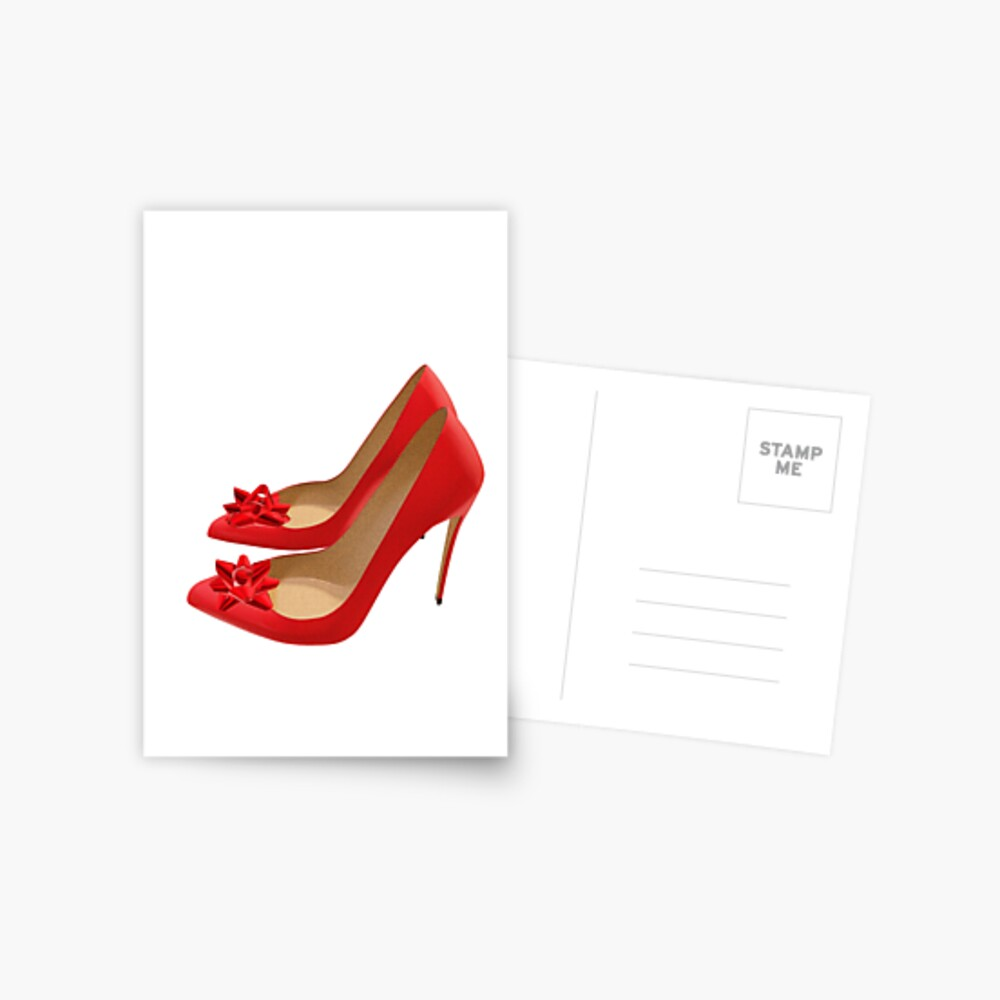 Red Heels with bows Postcard