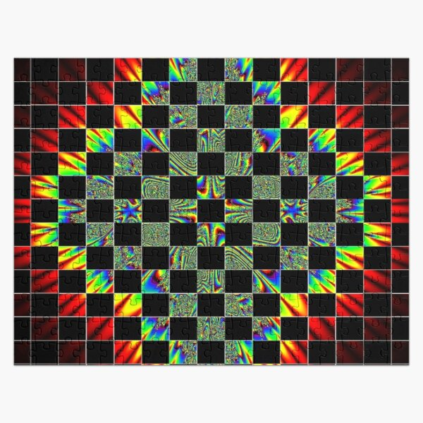 #Design, #pattern, #abstract, #art, illustration, shape, decoration, mosaic, square, futuristic, tile, modern Jigsaw Puzzle