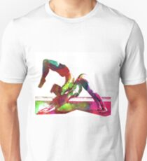 Couple yoga watercolour art T-Shirt