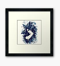A Hell To Pay: Blue Framed Print