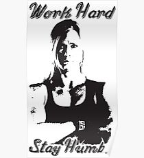 Work Hard, Stay Humble (Holly Holm) Poster