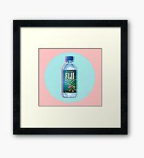 Fiji Water vaporwave  Framed Print