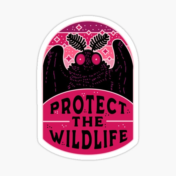 Protect the Wildlife (Mothman) Sticker