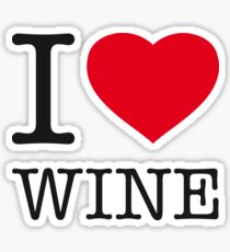 I ♥ WINE Sticker