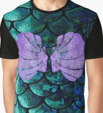 Mermaid Scales & Shell Bra Graphic T-Shirt