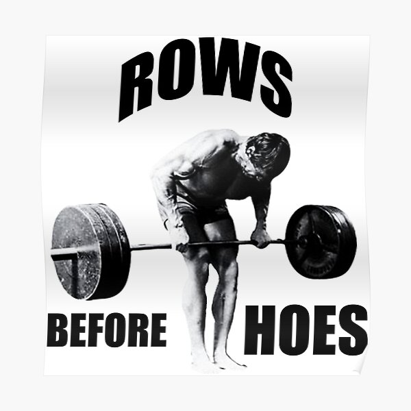 Rows Before Hoes Poster