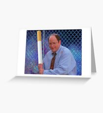George Costanza cigarette bat vaporwave 420 Greeting Card