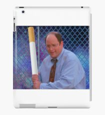 George Costanza cigarette bat vaporwave 420 iPad Case/Skin