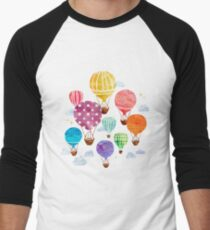 Hot Air Balloon Men's Baseball ¾ T-Shirt