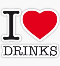 I ♥ DRINKS Sticker