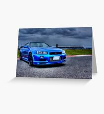 Nissan Skyline in HDR Greeting Card