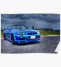 Nissan Skyline in HDR Poster