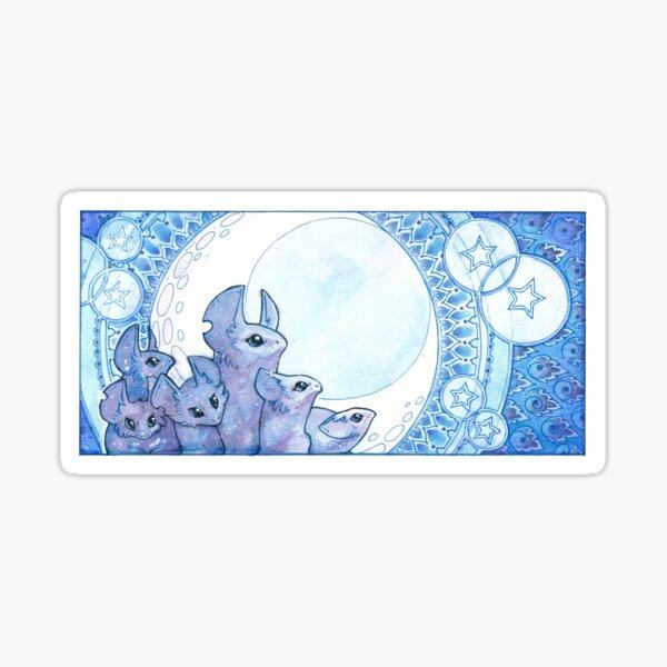 moon mice Sticker