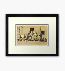 """""""THROWBACK: A 1917 One Room Schoolhouse""""... prints and products Framed Print"""