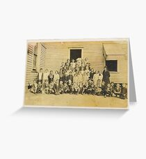 """""""THROWBACK: A 1917 One Room Schoolhouse""""... prints and products Greeting Card"""