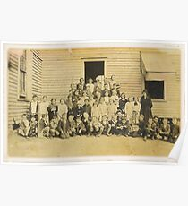 """""""THROWBACK: A 1917 One Room Schoolhouse""""... prints and products Poster"""