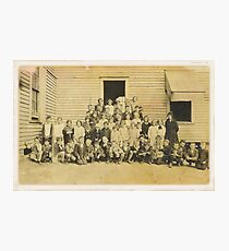 """""""THROWBACK: A 1917 One Room Schoolhouse""""... prints and products Photographic Print"""