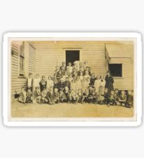 """THROWBACK: A 1917 One Room Schoolhouse""... prints and products Sticker"