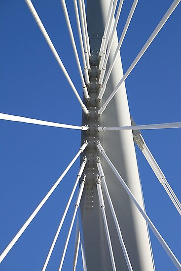 Abstract Bridge Lines #2, Winnipeg, Manitoba, Canada by Carole-Anne