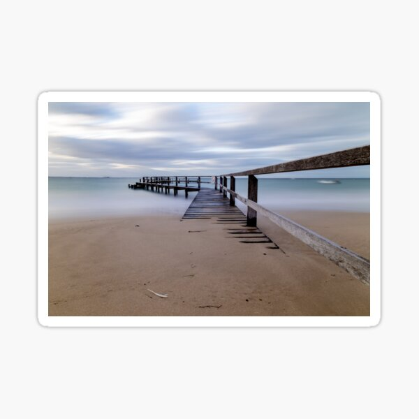 Shelley Beach Pier, Portsea Sticker