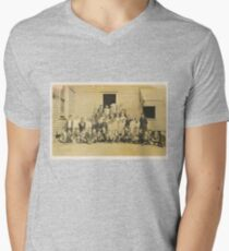 """""""THROWBACK: A 1917 One Room Schoolhouse""""... prints and products Men's V-Neck T-Shirt"""