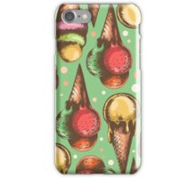 pattern with ice cream iPhone Case/Skin