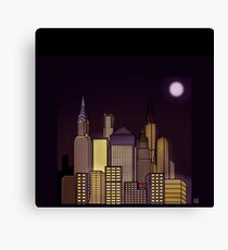 ABSTRACT CITYSCAPE: CHOCOLATE HAZE Canvas Print